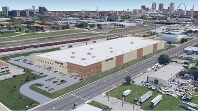 Rendering of Deli Star Corporation's new headquarters in St. Louis, Missouri. The 110,000 sq. ft. facility will be located at 3049 Chouteau Avenue.