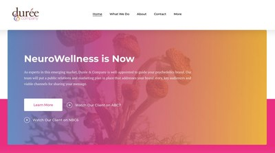 Full service public relations firm Durée & Company is pleased to announce PsychedelicPR.com, a new microsite to address its NeuroWellness practice.
