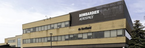 Bombardier Aerospace and De Havilland offices at the Downsview plant in Toronto. (CNW Group/Unifor)