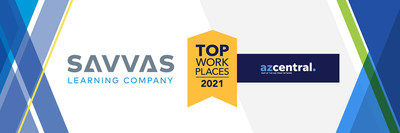 Savvas Learning Company has been named a winner of the Arizona Top Workplaces 2021 Award.