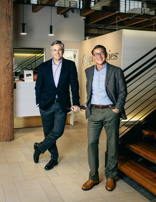 @properties co-founders and co-CEOs (L-R) Mike Golden and Thad Wong, in their Chicago headquarters.