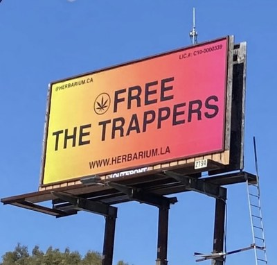 Free The Trappers, a campaign curated by Herbarium to share their stance and belief in social equity. Herbarium has over 100 billboards in Los Angeles county. The best dispensary in LA.