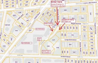 Carte du lieu de l'annonce (Groupe CNW/Société canadienne d'hypothèques et de logement)