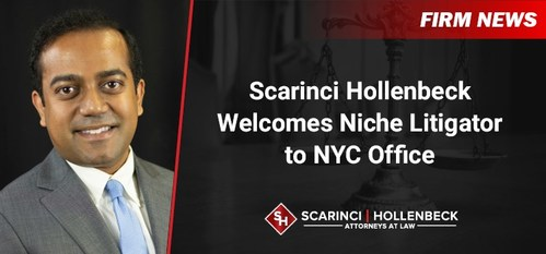 Scarinci Hollenbeck's New York City office welcomed another talented litigation attorney with the addition of Ajoe P. Abraham as Counsel.