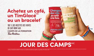 C'est le Jour des camps Tim Hortons®! Célébrez avec nous le 30e anniversaire de cette campagne transformatrice qui a permis d'amasser plus de 212 millions de dollars pour soutenir les jeunes issus de milieux défavorisés Photo (Groupe CNW/Tim Hortons)