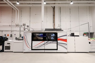 The Canon varioPRINT iX-series on display at the Canon Americas Customer Innovation Center in Boca Raton, FL