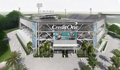 Credit One Stadium located at the LTP Daniel Island tennis center in Charleston, South Carolina