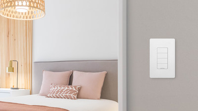 The Nokia Smart Lighting Keypad, one of a new family of lighting products that feature universal compatibility, high-end capabilities and style at an affordable price.