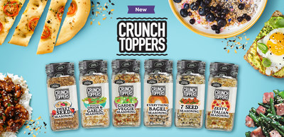 The full lineup of Crunch Toppers products.