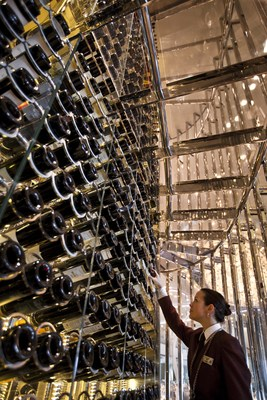 Celebrity Cruise's wine collection at sea