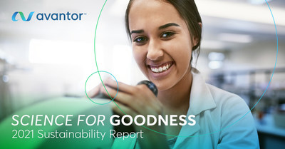 Avantor® Publishes Inaugural Sustainability Report; Drives Positive Impact through Science for Goodness Platform (PRNewsfoto/Avantor and Financial News)