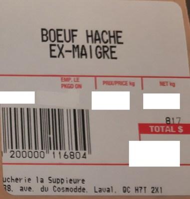 Boeuf haché ex-maigre (Groupe CNW/Ministère de l'Agriculture, des Pêcheries et de l'Alimentation)