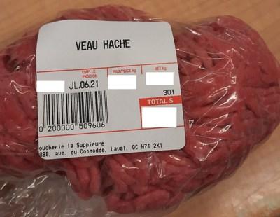 Veau haché (Groupe CNW/Ministère de l'Agriculture, des Pêcheries et de l'Alimentation)
