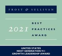 2021 United States Next Generation 911 Growth Leadership Award (PRNewsfoto/Frost & Sullivan)