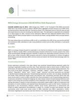 MEG Energy Debt Repayment Press Release - July 22, 2021 (CNW Group/MEG Energy Corp.)