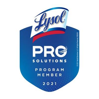 Lysol Pro Solutions Program Member Badge