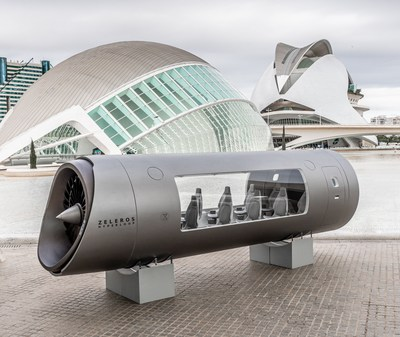 Hyperloop vehicle at City of Arts and Sciences, Valencia, Spain