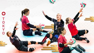Le CPC et Volleyball Canada annonçaient la sélection des athlètes qui représenteront le Canada en volleyball assis féminin aux Jeux paralympiques de 2020 à Tokyo, y compris (de gauche à droite) : Payden Vair, Jennifer Oakes, Danielle Ellis, Felicia Voss-Shafiq, et Jolan Wong. (Groupe CNW/Canadian Paralympic Committee (Sponsorships))