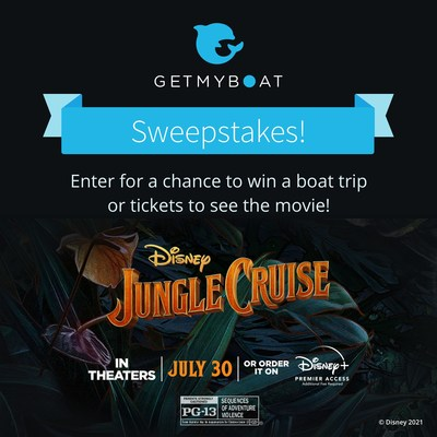 GetMyBoat's Sweepstakes Celebrating the Release of Disney's Jungle Cruise!