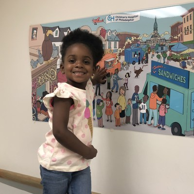 Displayed on the walls of the clinic, the Picture This! murals were designed to mimic large storybook pages, using the proven power of wordless picture books to foster creativity and organic conversation.