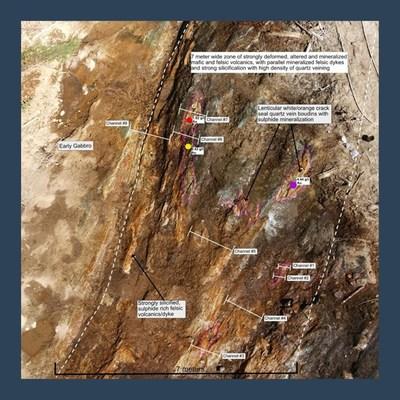 Figure 2: 007 Showing Lithology (CNW Group/Harte Gold Corp.)