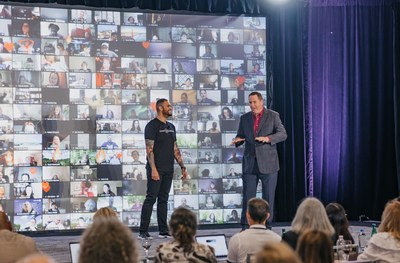 Michael Anthony, June 2021 Speak Off Finalist receiving live coaching after sharing his story by Pat Quinn, Chief Product Officer at Advance Your Reach and world-renown speaking coach.