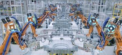 Intelligent robots to manufacture high-quality cars (PRNewsfoto/GAC MOTOR)