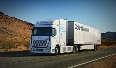 Hyundai Motor Company announced its plan to deploy its XCIENT fuel cell electric heavy-duty truck in California.