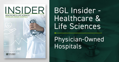 Physician-owned hospitals (POHs) are a critical part of the care continuum and valuable partners to health systems, owed to long track records of providing high-quality care at lower costs, according to an industry report released by the Healthcare & Life Sciences investment banking team from Brown Gibbons Lang & Company (BGL).