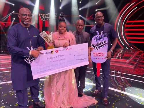ESTHER BENYEOGO, WINNER OF THE VOICE NIGERIA SEASON 3