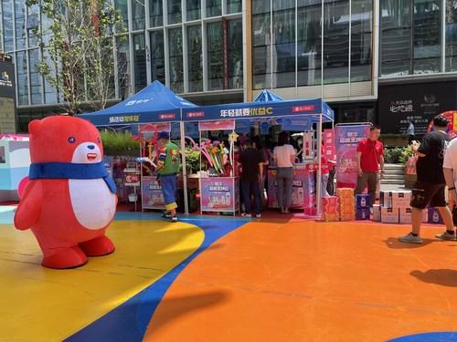 MissFresh's pop-up store with Mengniu in Beijing.