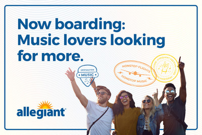 Allegiant's exclusive partnership with select Live Nation venues, Ticketmaster and music festivals will give customers access to unparalleled live entertainment experiences across the United States
