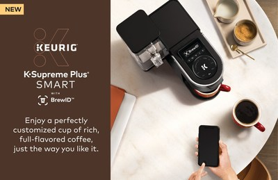 Connect to the Keurig® app so you can save your coffee preferences, schedule a brew in advance or brew a cup from anywhere.