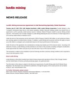 Lundin Mining Announces Agreement to Sell Remaining Specialty Cobalt Business (CNW Group/Lundin Mining Corporation)