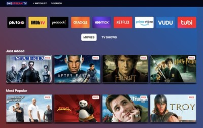 Hot Startup OneStream TV Launches Free Streaming Aggregator to Battle Netflix and Streaming Fatigue