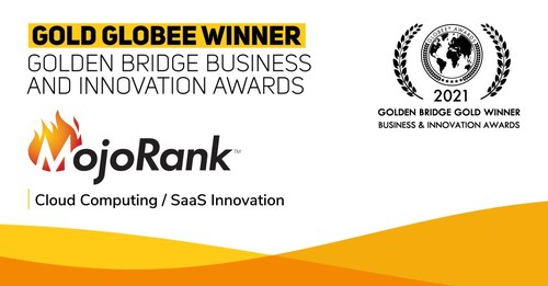 MojoRank won Gold in the SaaS Innovation category in the Golden Bridge Business and Innovation Awards, for its talent-matching solution for recruiting and internal mobility.