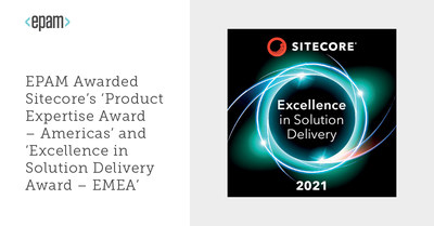 EPAM Awarded Sitecore's 'Product Expertise Award – Americas' and 'Excellence in Solution Delivery Award – EMEA'