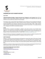 ShaMaran May 2021 Payments Received (CNW Group/ShaMaran Petroleum Corp.)