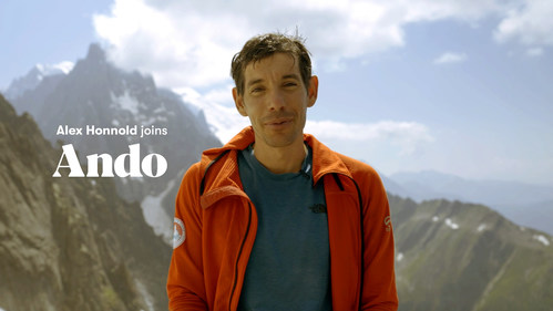 Legendary Climber Alex Honnold Joins Ando, Sustainable Banking FinTech