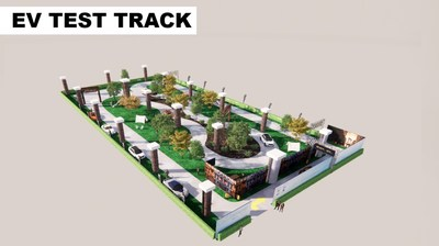 New York Auto Show EV Test Track renderings show how attendees will embark on a re-imagined road trip through various environments where they can get a real sense of how electric vehicles feel and handle.