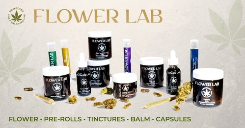 Products offered through Flower Lab, a new brand of premium hemp products formulated with the wellness benefits of the cannabis plant to help achieve a desired state of well-being.