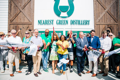 Ribbon cutting for the reopening of the Nearest Green Distillery in Shelbyville, Tenn. on June 19, 2021 (Credit: Kara Faye Photography)