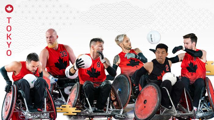 加拿大轮椅橄榄球队为东京2020个残奥会会有12名球员(L-R):Patrice Dagenais,Zak Madell,Mike Whitehery,Trevor Hirschfield,Travis Murao和Cody Caldwell。照片:加拿大残奥会(CNW集团/加拿大残奥会(赞助))beplay数据中心