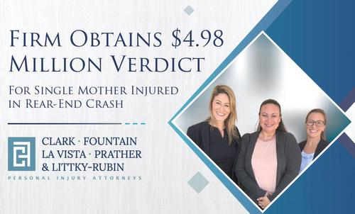 Clark, Fountain, La Vista, Prather & Littky-Rubin's all-female trial team, attorneys Shana P. Nogues and Jennifer A. Dinetz.