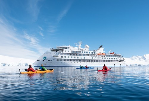"""Aurora Expeditions ship """"Greg Mortimer,"""" the first passenger ship utilising the Ulstein X-Bow®"""