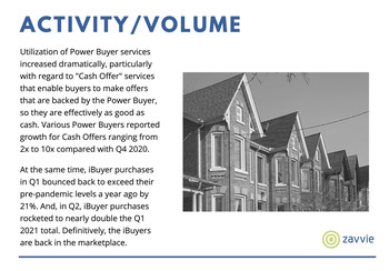 The new zavvie report found that in the first half of this year, more sellers than ever utilized the services offered by a range of companies that are fundamentally changing how residential real estate works. See zavvie.com/seller-preferences