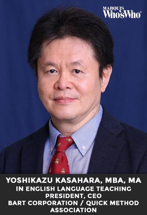 Yoshikazu Kasahara, MBA, Celebrated for Excellence in English Language Education