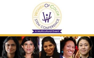 Ansys employees, from left to right, Sujata Bandyopadhyay, Lakshana Mohee, Vidyu Challa, Terri Washington and Eunhee Kim recognized by prestigious Women of Color STEM Awards