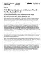 ATCO & Nunavut Petroleum Joint Venture Wins 10-Year Fuel Supply Contract -- Uqsuq  Corporation marks 25 years of managing fuel for Iqaluit (CNW Group/ATCO Ltd.)
