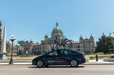Evo Car Share's fleet of vehicles now available in Victoria (CNW Group/BCAA Insurance)